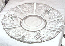 Elegant Glass - Fostoria - Chintz - Cracker Plate 11""