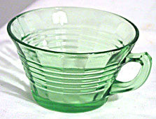 Depression Glass - Hocking Circle - Green Cups - Lot of 3
