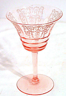 Cambridge Cleo - Pink Tall Sherbets or Saucer Champagnes