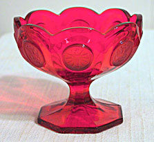 Elegant Glass - Fostoria Coin - Red Open Jelly