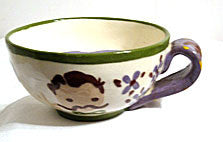 "Cleminsons Pottery - Hand Painted - Moustache Cup ""Dad"""