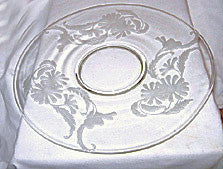 Elegant Glass - Paden City - Daisy - Large Torte Plate 14 1/2""