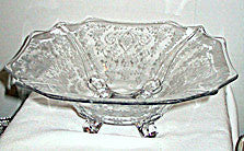 Elegant Glass - Cambridge - Diane - Square Bowl 12 in.