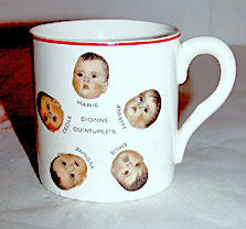 Dionne Quintuplets - China Mug w/ Pictures 3""