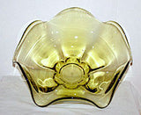 Elegant Glass - Tiffin - Canterbury - Citron Green / Chartreuse - Bowl 10 1/2""