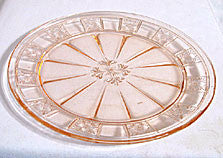 Depression Glass - Jeannette - Doric - Dinner Plate - Pink  9 in.