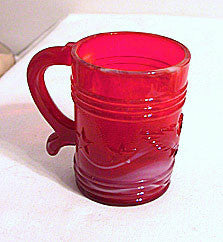 Imperial - Red Slag Glass - Eagle & Star Mug From Americana Collection