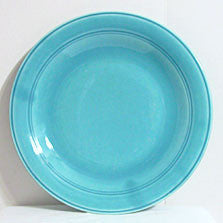 Vernon Kilns - Early California - Turquoise Chop Plate 12""