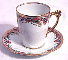 Bawo and Dotter Elite Works - Limoges - Demitasse Cup & Saucer - Set of 2