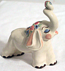 "CAS - Ceramic Arts Studio - Elsie Elephant - 5"" x 5.5"""