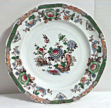 Early Polychrome Hand Colored Plate w. Oriental Style Decoration - Set of 5