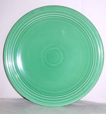 Homer Laughlin - Fiesta (Vintage) - Green Chop Plate 12 1/4""