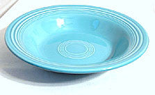 "Fiesta - Deep Plate / Flat Rim Soup 8 1/4""- Turquoise - Vintage - Lot of 2"