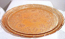 Jeannette - Floragold - Carnival Iridiscent - Large Tray 13 1/2""