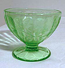 Jeannette Floral Sherbet Green from Centennial Antiques