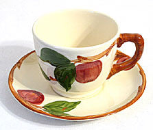 Gladding McBean - Franciscan - Apple (USA) - Cup & Saucer Sets - Lot of 2