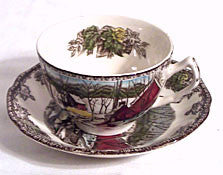 Johnson Brothers - Friendly Village - Cup & Saucer Sets - Ice House - Lot of 5
