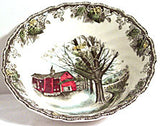 "Johnson Brothers - Friendly Village - Round Vegetable Bowls  8 1/4"" - Autumn Mist"