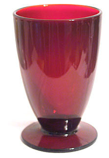 "Anchor Hocking - Royal Ruby - Footed Tumblers 5"" - Lot of 4"