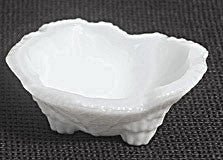 Fostoria - Grape Leaf - Milk Glass - Individual Almond Cups - Set of 12