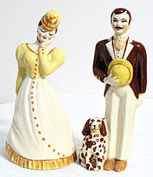 CAS - Ceramic Arts Studio - Harry & Lilibeth 7 & 6 3/4""