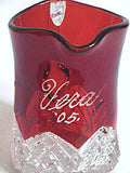 "EAPG - McKee - Heart Band - Red Flashed Creamer 4"" - Souvenir Vera '05"