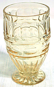 Elegant Glass Fostoria Hermitage - Topaz  Footed  Ice Tea Tumbler 5.25""