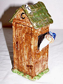 Imperial Porcelain - Paul Webb - Blue Ridge Mountain Boys - Outhouse Vase / Planter 7""