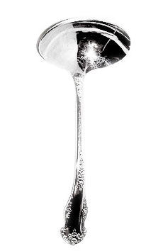 National Silver - Holiday - Silver Plate - Gravy Ladle 6""
