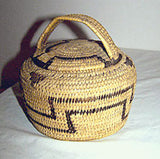 "Native American Indian - Pima / Papago - Lidded Basket 6"" x 6"""
