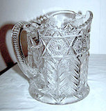 EAPG - Cambridge - Inverted Feather - Near Cut Pitcher 7 1/4""