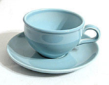 Iroquois China / Russel Wright - Casual - Blue Cup & Saucer Sets - Lot of 2