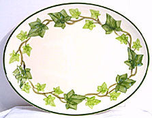 "Gladding McBean - Franciscan Ivy - Oval Platter 13"" - USA"