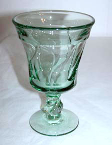 "Elegant Glass - Fostoria - Jamestown - Green Goblet 5 3/4"" - Lot of 5"