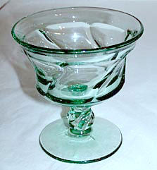 "Elegant Glass - Fostoria - Jamestown - Green Sherbets 4 1/4"" - Lot of 3"