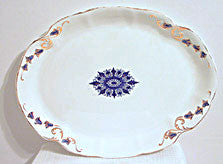 "Knowles Taylor Knowles - Flow Blue Platter 15"" x 12"""