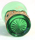"Lacy Medallion - Emerald Toothpick w/ Gold - 2 1/4"" High - Mother"