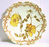 "Limoges - Hand Painted Plate - Lots of Gold - 9.25"" - Coiffe"