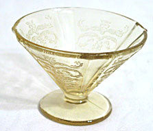 Depression Glass - Federal - Madrid - Amber Cone Sherbets