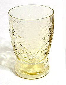 "Depression Glass - Federal - Madrid - Amber Tumblers 4 1/4"" - Lot of 5"