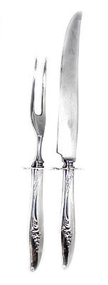 "Nobility Plate - Magic Moment - Silver Plate - 2 pc Hollow Handled - Carving Set 9 1/8"" & 11 1/2"""