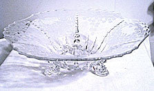 "Elegant Glass - New Martinsville - Meadow Wreath Console Bowl 11"" - Lot of 2"