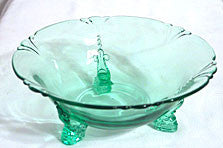 Heisey - Empress - Moongleam Green Bowl 7.5 in.