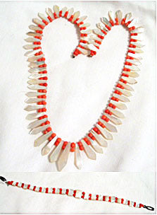 Set- MOP Coral Necklace & Bracelet
