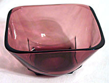 "40s 50s 60s - Hazel Atlas - Moroccan Amethyst - Square Bowl 5.75"" - Lot of 3"