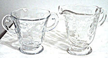 Elegant Glass - Fostoria Navarre - Cream & Sugar Set