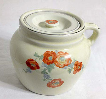 Hall China - Orange Poppy - New England Bean Pot 6""