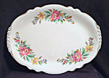 Homer Laughlin Peony or Spring Wreath  -  Platter - 13 1/4""
