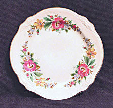 Homer Laughlin Virginia Rose Shape - Peony or Spring Wreath Pattern -  7 in. Plate