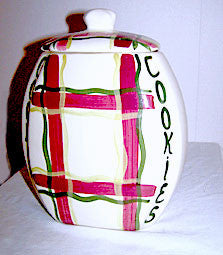 Purinton - Normandy Plaid - Covered Cookie Jar 9 1/2""